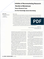 Neuromarketing, From Novelty to Mainstream