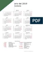 Calendario de Honduras Del 2019 _ ¿Cuándo en El Mundo