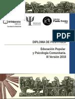 Informativo Diplomado Educación Popular y Psicologia Comunitaria 2018 (1)