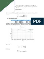 Parámetros de La Ecuación de Arrhenius
