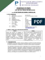 2. Silabo - Teoria y Diseño Curricular - Piura- Dra. Portales.