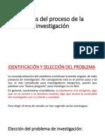 Etapas Del Proceso de Investigacion