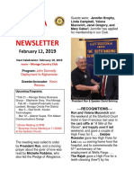 Moraga Rotary Newsletter Feb 12 2019