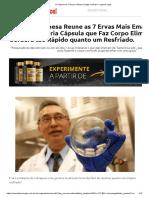A Cápsula de 7 Ervas Chinesa Chega No Brasil – Lipocel Caps