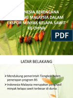 PPT Ekonomi Internasional Tentang Indonesia Ekspor Minyak Kelapa Sawit Ke China