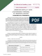 Bolsas de empleo de personal laboral temporal que presta servicios en el Operativo de Prevención y Extinción de Incendios Forestales de la Comunidad Autónoma de Castilla y León
