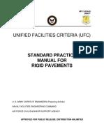 Standar Manual Practice for Rigid Pavement