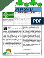3a newsletter week of february 18 2019