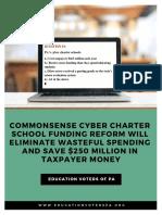 Ed Voters Short Cyber Charter School Funding Report