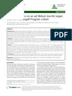 Efectos de una dieta vegana baja en grasa