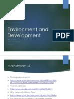Environment and Development 1 Fall 2017