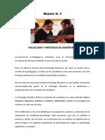 m3 - Psicologia y Metodos de Ensenanza