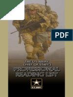 Army Chief of Staff Read List 2017