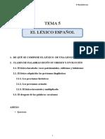 Tema 5_ El Léxico Español
