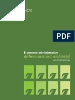 El Proceso Administrativo de Licenciamiento Ambiental en Colombia 2017