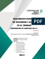 Reglamento Interno de Seguridad y Salud en El Trabajo - Csgr 22-08 2014 (l)