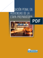 Litigacin Penal en Audiencias de La Etapa Preparatoria