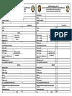 Ficha de Puntajes Para Juzgamiento de Ganado Holstein