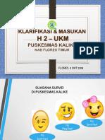 Klarisna UKM H2 Puskesmas Kalike