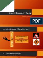 Venezolanos en Perú - Derecho