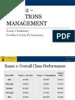 Exam 1 Feedback