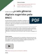 Conheca Seis Generos Digitais Sugeridos Pela Bnccpdf