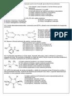 exercícios sobre introdução a química orgânica