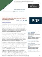 ConJur - Francis Fernandes_ Proibição Do Retrocesso Dos Direitos Fundamentais