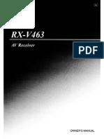Yamaha RX-V 463 AV Receiver.PDF