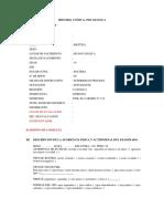 Historia Clinica - Modelo