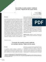 Corrección de mordida cruzada posterior vestibular en dentición primaria. Reporte de dos casos clínicos