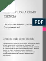 criminologia Como Ciencia