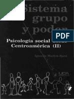 Sistema Grupo y Poder Psicologia Social Desde Centroamerica II. indice