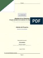 Plantilla Resumen Ejecutivo Proyecto