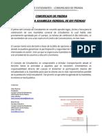 Comunicado de Prensa - Asamblea General