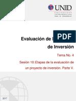 Evaluación de Proyectos de Inversión Parte 5