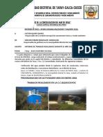 Informe Ralizado DURANTE EL AÑO 2016