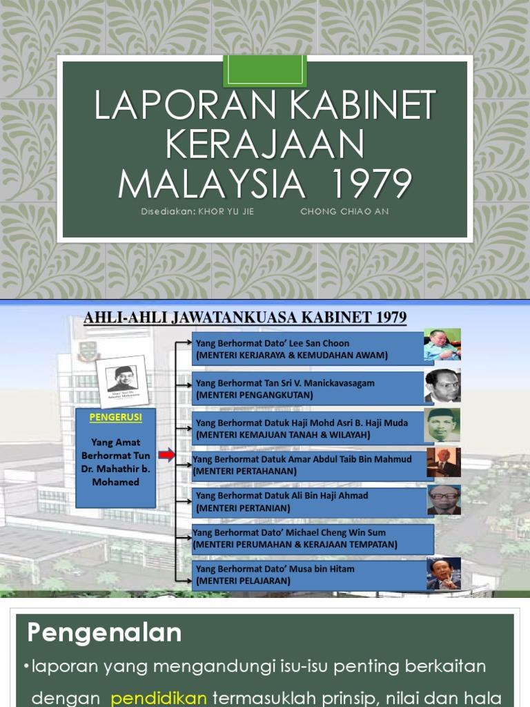 Laporan Kabinet Malaysia 1979 Pptx