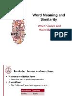 Lecture 8 - Semantic Similarity Vector Semantic - Sem