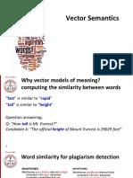 Lecture 8 - Semantic Similarity Vector Semantic - Vector 1