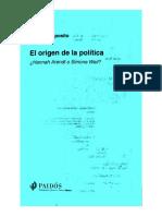 Esposito Roberto - El Origen de La Politica