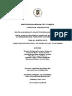 Caracterizacion de Grano de Cafe Ecuatoriano