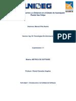 Metrica de Software  Actividad 1