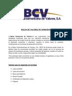 Tarea Grupal Bolsa de Valores de Honduras