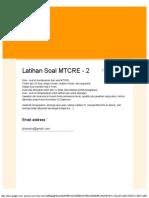 Latihan Soal MTCRE - 2