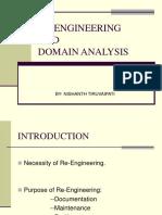 RE-EnGINEERING and Doamin Analysis_Tiruvaipati_nishanth