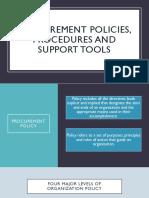 Procurement Policies, Procedures and Support Tools