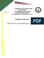PRÁCTICAS DEL BUEN GOBIERNO EN EL ECUADOR