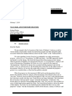 Michael Jackson Estate's Letter to HBO (Re