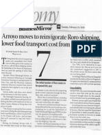 Business Mirror, Feb. 19, 2019, arroyo moves to reinvigorate Roro shipping, lower food transport cost from Mindanao.pdf